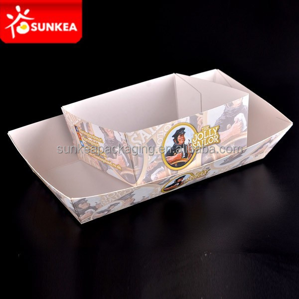 Disposable small cardboard paper food tray