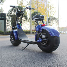 Chinese 2000W Automatic Electric Motorcycle 2 wheel Citycoco with big round light and brake light