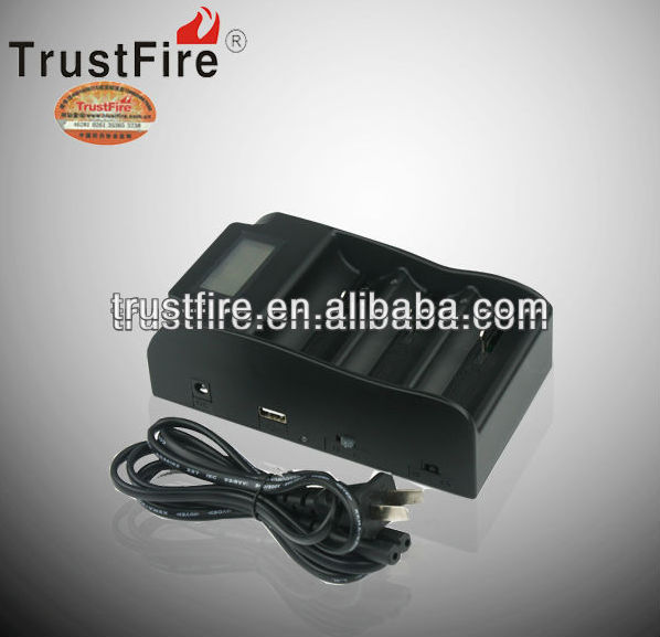 trustfire TR-008 power bank battery charger /portable usb charger for 18650, 25500, 26650, 26700, 32650 type batteries