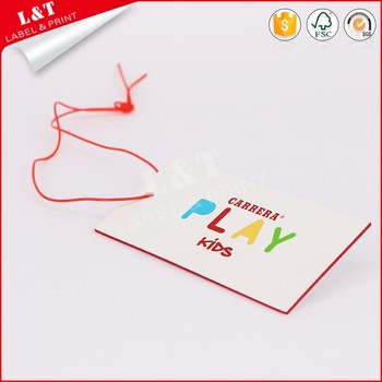 Fast Deliver Coated Paper Logo Clothing Hang Tag