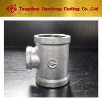 "New Series 4"" * 11/4"" Galvanized Bended Reducing Tee Pipe Fittings"