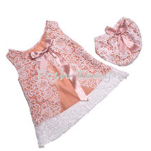 INS 2016 Baby Girls Clothes Set Lace Dress + PP Pants 2pcs Outfits for Toddler Summer Boutique Girls Clothing Set