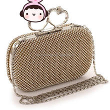 Monroo korea style high-end beautiful lady diamond Banquet handbags