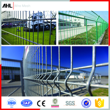 Security Heavy Gauge White Black Fencing Net Iron Square Panels 3D Double Galvanized Powder PVC Coated Welded Wire Mesh Fence