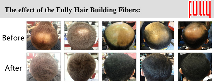 FULLY 2019 New Plant Keratin Hair Fibers Powder for Hair Loss Concealing