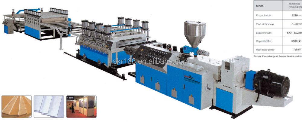 PVC Foamed plate Extrusion machine