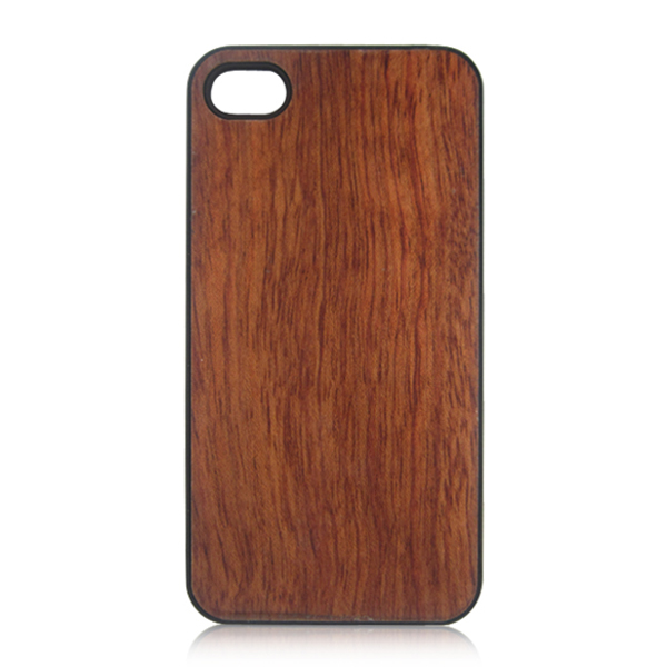 Solid rose wooden case high quality cell phone beauty shell for iPhone 4S PC single bottom wood cover