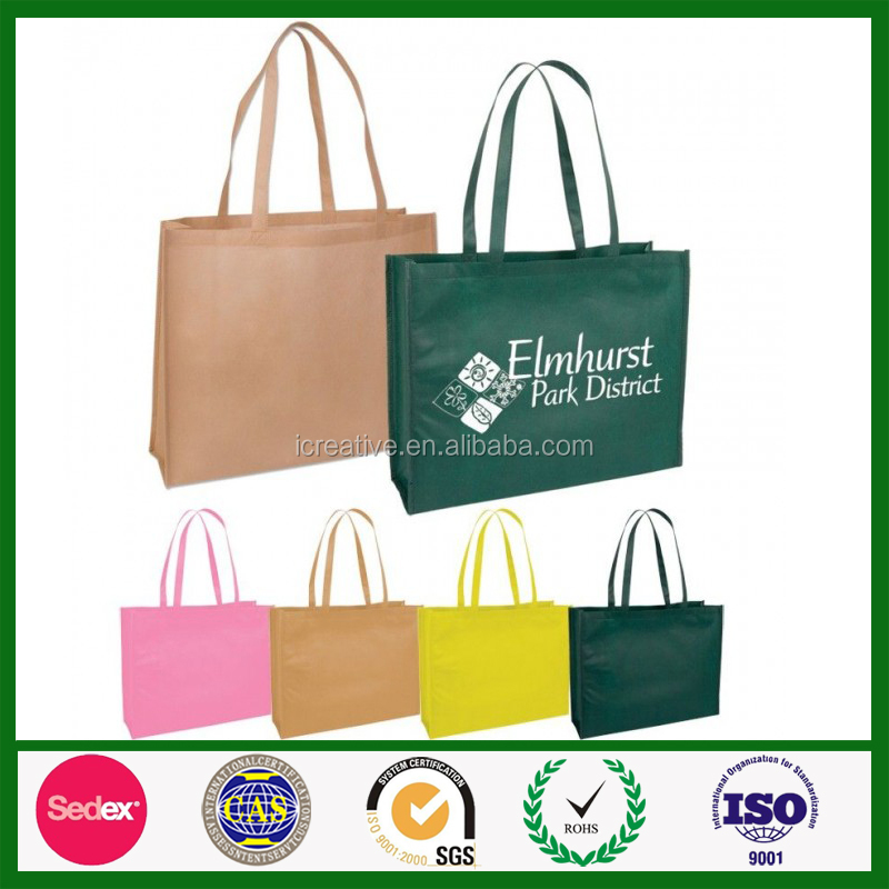 Cheap custom printed eco friendly non woven tote grocery shopping bag