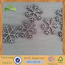 Wooden Christmas decorations snows laser cutting wood snow