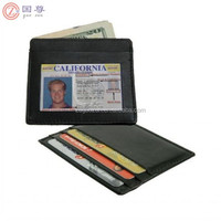 Men's Leather Thin Slim Wallet Holder Money Credit Card ID Window New /Leather Credit Cad Holder Black