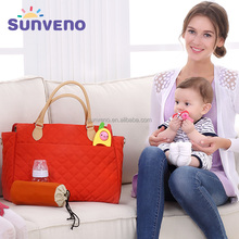 SUNVENO New Brand Adult Baby Diaper Bag Women Mummy Fashion Babby Nappy Bag Tote Multicolor diaper handbag For Mammy