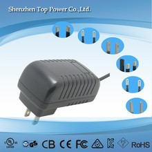 Wall type ac adapter 15v 1a 15w power supply for scanner printers