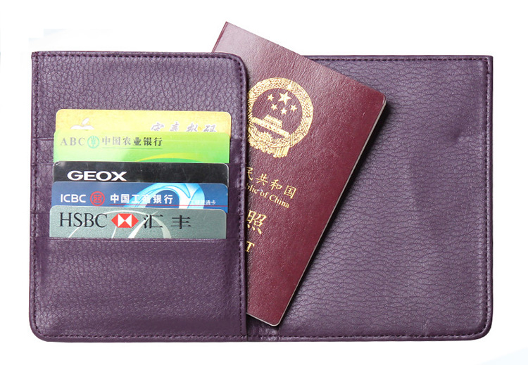 13597 Hot sale personalized PU leather rfid passport wallet for travel