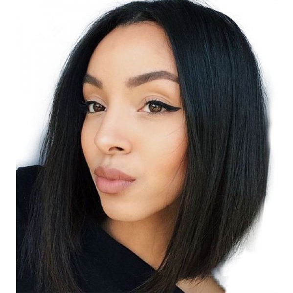 Best China Wig Supplier Natural Black 10''~16'' Virgin Peruvian/Brazilian Human Hair Full Lace Wig With Free Sample