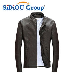 OEM Cheap Price Leather Men Down Jacket For Winter