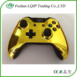 Custom gold chrome gamepad Controller Housing Shell replace case Front face Plate for xbox one gold shell