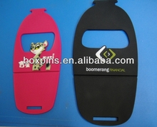 soft pvc personalized mobile phone stands cell phone display stands