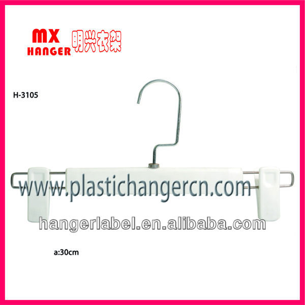 plastic pants hangers with clips,mini plastic clip hangers,used plastic hanger
