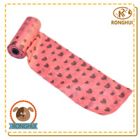 PE customized pattern printed dog poop bag