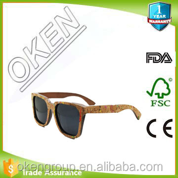 Bamboo/wood sunglasses/ china sunglasses factory cork sunglasses
