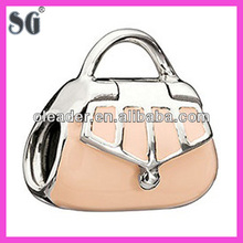 Beautiful hand bag shape 925 sterling silver Enamel charms