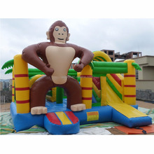 2018 Monkey giant inflatable bouncer kids jumping castle inflatable playground