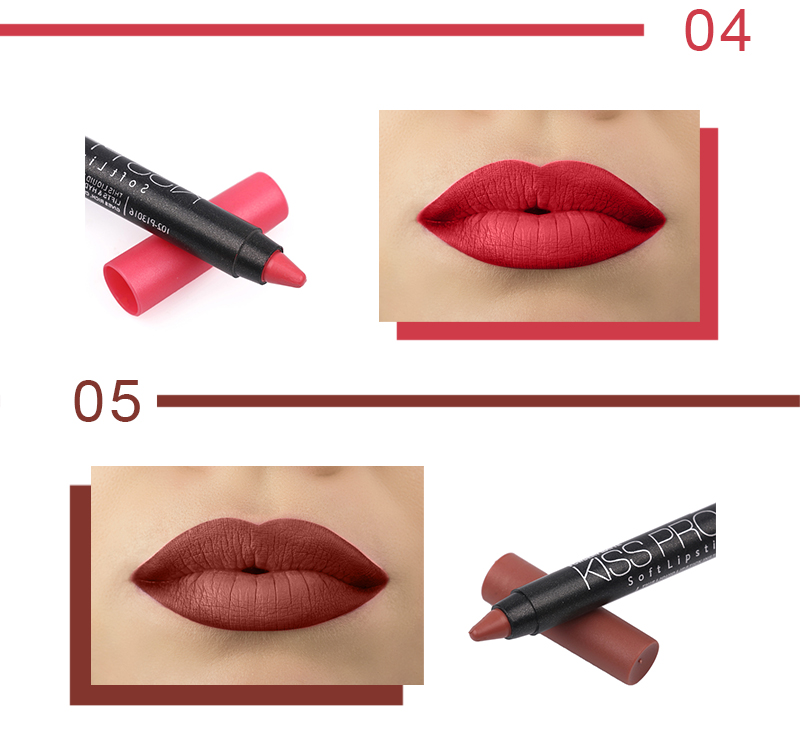Fashion Natural 19 Colors Menow Cosmetics P13016 Waterproof Matte Lipstick