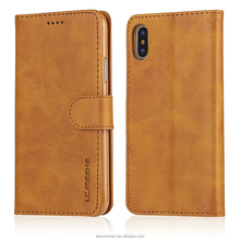 5 colors Luxury PU leather wallet case for iPhone X 5s se 6 6s 6P 7P 8 Plus
