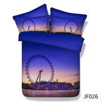 Bed sheets London Eye 3D bedding set