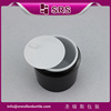 Black hand cream plastic cosmetic jar wholesale , 30g 50g 100g 200g fashion black plastic containers for hand cream