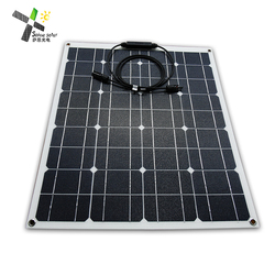 high efficiency ETFE flexible solar panel mono semi flexible solar panel 50w