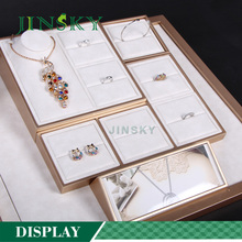 custom jewelry display set jewellery counter design for earring ring necklace display