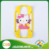 Soft cross shape cartoon single color silicon phone case