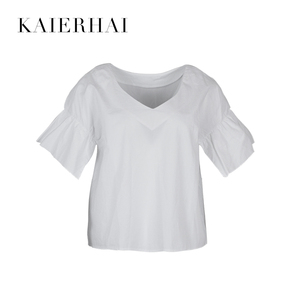 China manufacturer 100 cotton white blouse shirts for women