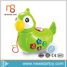 Best selling small music light animals plastic toys birds for baby