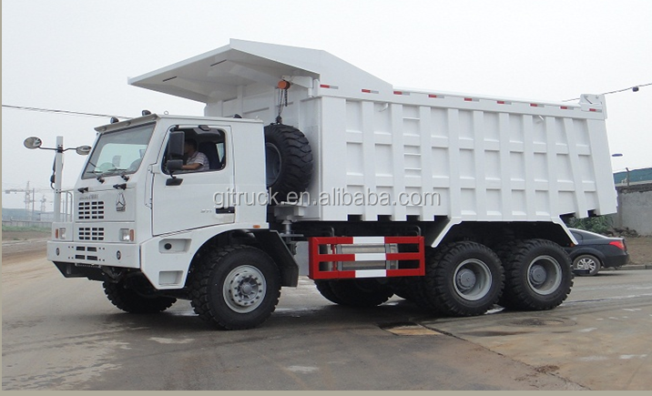 6x4 Howo Mining dump <strong>truck</strong> for 70T to 80T loading weight for big stone
