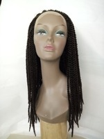 cheap wholesale price silk top synthetic dreadlocks lace front wig with baby hair for black women