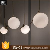 Modern Glass ball Pendant Lamp Hanging Light Ceiling Chandelier Lighting for hotel / coffee bar / home decoration