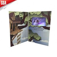 manufacture 4.3' LCD greeting card with video for mobile phone marketing