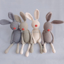 cartoon zoo animal shape hand knitted rabbit, elephant, monkey plush toys