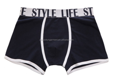 OEM Brand Logo Solid Color 95%Cotton 5%Elastane 180gsm Men Underwear with Woven Band Fashion Design Sport Men Boxer Briefs