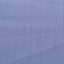 Luthai 100% cotton yarn dyed non iron dark blue stripe men's shirt fabric