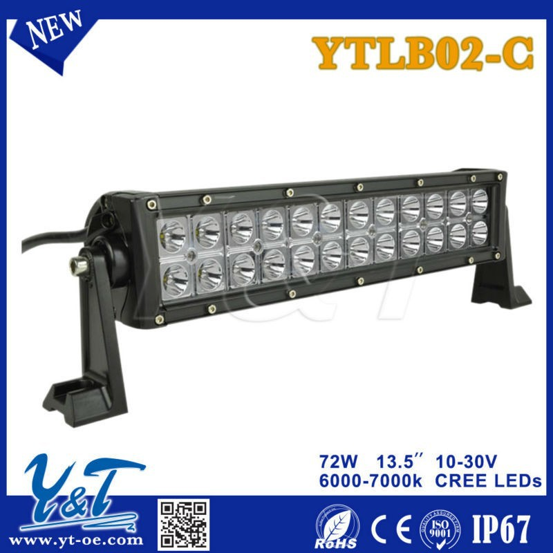New 13.5 inch 72W ytlb02-c led light bar,off road 4x4 use