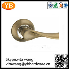 modern style stainless steel door handles/lock set in true gold polishing lever handle.made in china. passed ISO90012008