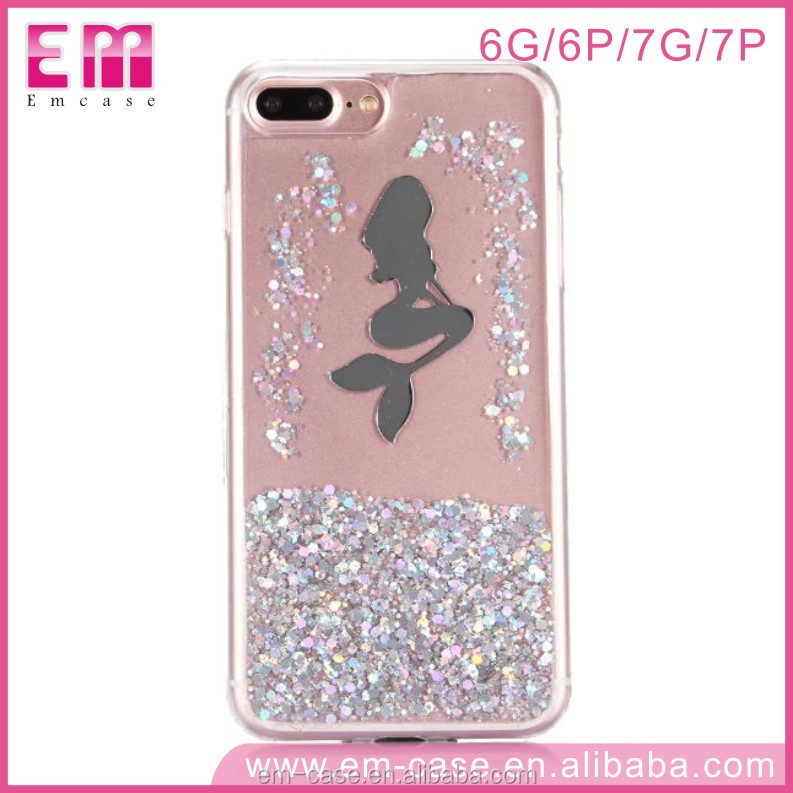 2017 Universal Latest Star Glitter Shell Bling Case for iPhone 7,For iPhone 7 Bling Cystal Hard Phone Case Cover