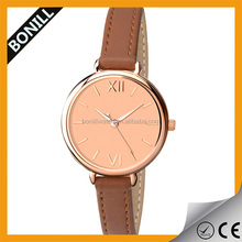 Hot Popular Fashion Casual Lady Women Girl Leather Quartz New Design Cheap Watch Wholesale Women Watch