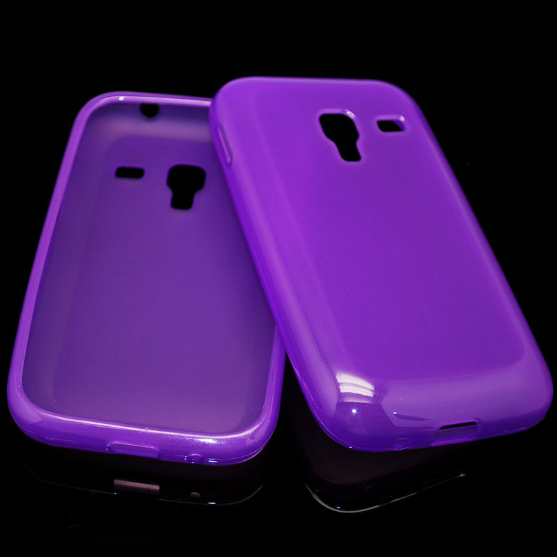 cellphone tpu case (gross outside,mette in side) for sumsung galaxy ace plus S7500