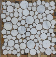 white marble mosaic for bathroom flooring tiles or wall tile