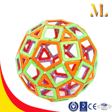 2016 New 3D Educational Intelligent Magnet tile Kids 3D Puzzle DIY Toy Plastic Educational Magnetic Building Blocks for Wholesal