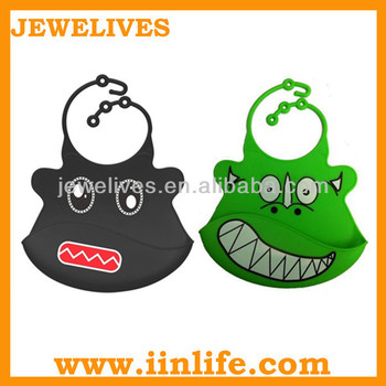 Popular and Wholesale Silicone Rubber Baby Bibs